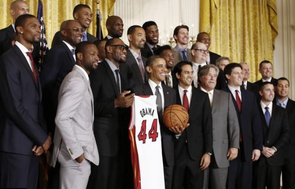 Miami Heat at the White House ceremony