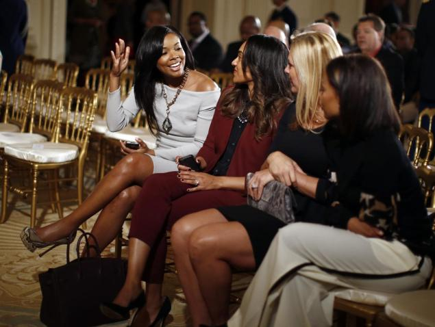Gabrielle Union at the White House